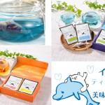 ティーポットを泳ぐイルカの形のティーバッグ!プレゼントにも良さそうな熊本出身・松下園の「イルカのティーバッグ」