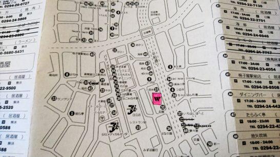 ホテルにある周辺飲食店マップ
