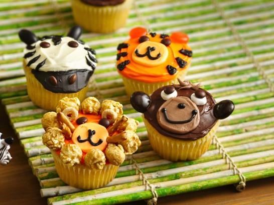 超かわいいカップケーキのデコり方>さる・ライオン・トラ・しまうま