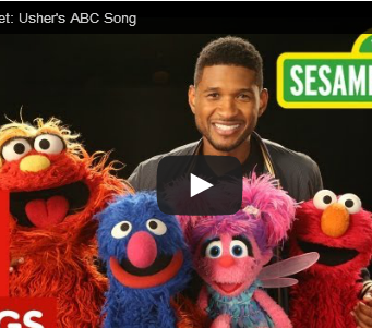 Usherがセサミストリートで披露したABCの歌がとてもステキ!