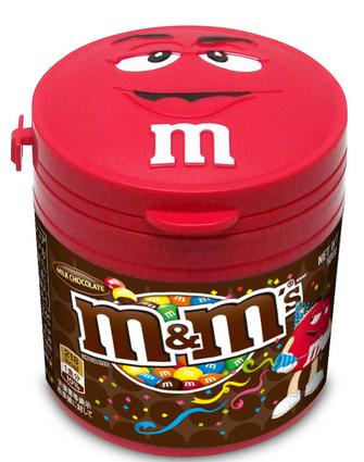 今年もやりますM&M'Sのホリデイシーズン限定!今年はリーダーの顔型ボトル☆