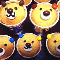 簡単デコ>クマのカップケーキと宇宙人のカップケーキ!