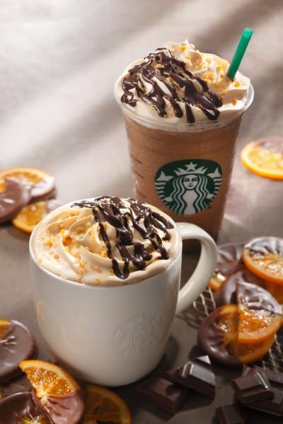 チョコレート オランジュ モカ ラテ と チョコレート オランジュ モカ フラペチーノがstarbucksより12/26発売