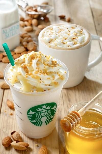 Almond Milk Latte and Frappuccino