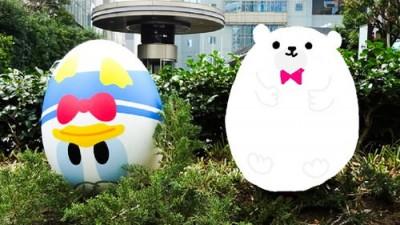赤坂サカスのママサカスでエッグハント!ドナルドは逆さま!
