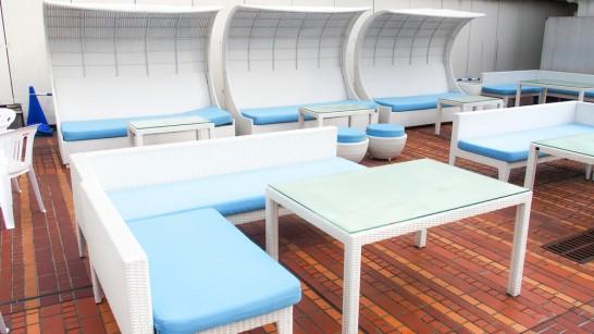 横浜ファーマーズビアガーデンにはこんな席も予約可能です。