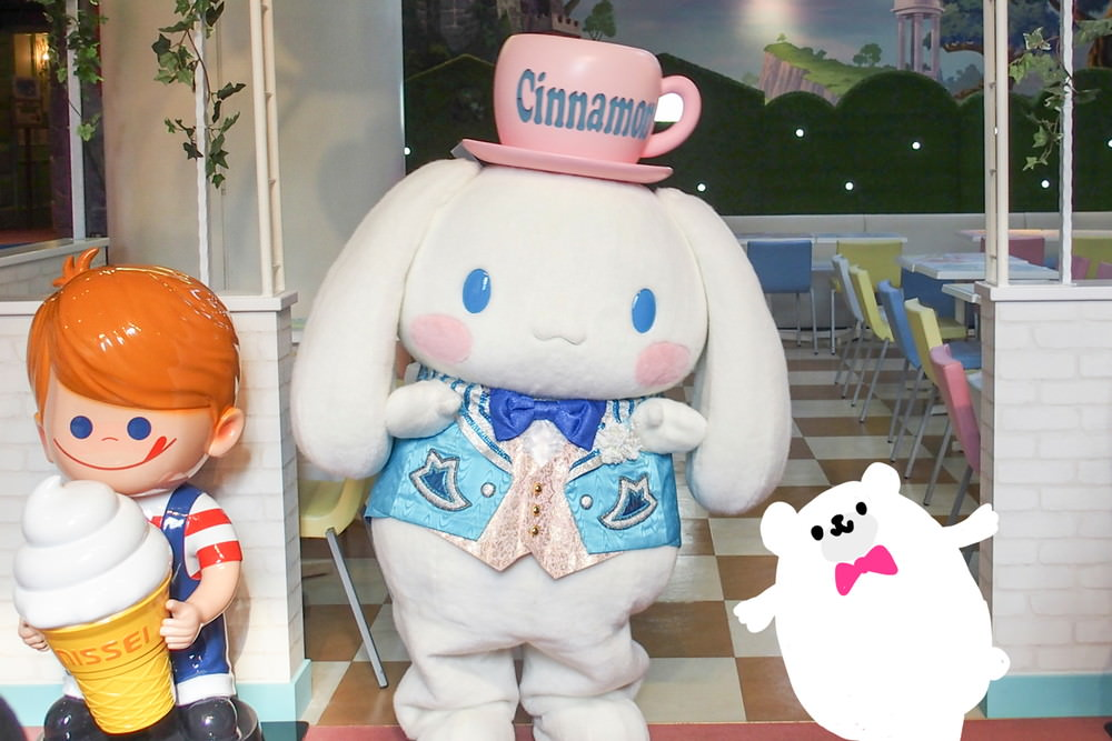 新登場!シナモロールふわもこタウンとカフェ体験会に行って来ました!品川紋次郎かわいすぎ!